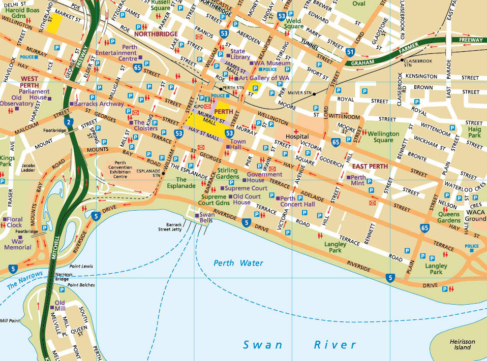 Map Of Western Australia With Towns.Custom Map Design Digital Cartography Services Australia Flat